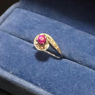 pt900 ルビー ダイヤモンドリング(リング(指輪))