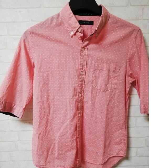 RAGEBLUE(レイジブルー)の【レイジブルー】ピンクドット七分丈シャツ♪ メンズのトップス(シャツ)の商品写真