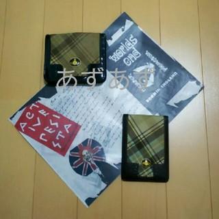 ヴィヴィアンウエストウッド(Vivienne Westwood)のマックチェック 折り財布 パスケース エナメルオーブのセット ヴィヴィアン(財布)
