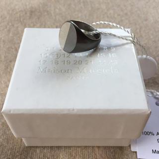 マルタンマルジェラ(Maison Martin Margiela)の19AW新品S マルジェラ ツートーン シグネットリング オーバル 今季 (リング(指輪))