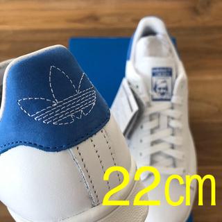 アディダス(adidas)の【限定1足】22㎝  希少カラー スタンスミス ホワイト ブルー(スニーカー)