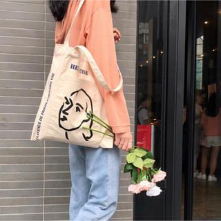 tote bag  トートバッグ 顔柄(トートバッグ)