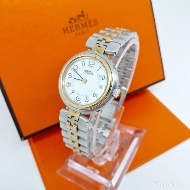 エルメスメンズマフラー | Hermes - HERMES エルメス コンビ プロフィール レディースモデル 腕時計の通販 by 茶子shop|エルメスならラクマ