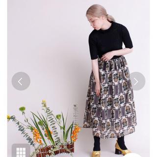 プープレ(peu pres)の最終値下げ プープレ ひまわりオパールプリント スカート(ロングスカート)