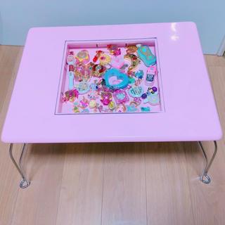 魔法少女 ピンク コレクションテーブル ローテーブル 机 ゆめかわいい(ローテーブル)