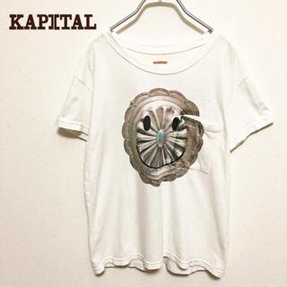 キャピタル(KAPITAL)の☆【KAPITAL】ブローチ スマイル ポケットtシャツ 美品(Tシャツ/カットソー(半袖/袖なし))