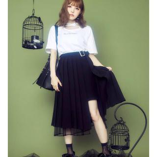 イートミー(EATME)のEATME プリーツラップスカート ブラック Sサイズ(ロングスカート)