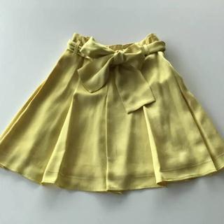 セリーヌ(celine)のセリーヌ 36 celine レモンイエロー  プリーツスカート(ひざ丈スカート)
