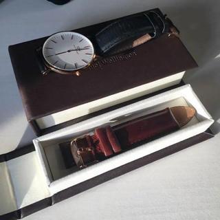 ダニエルウェリントン(Daniel Wellington)のダニエルウェリントン 腕時計 ブラウンレザーバンド付き(腕時計(アナログ))