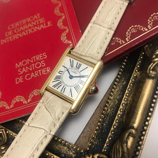 separation shoes ba515 6164a 美品✨カルティエ Cartier マストタンク SM レディース 腕時計