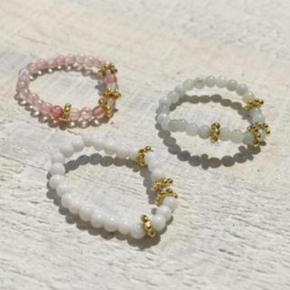 ジェイダ(GYDA)のネットで完売!可愛い♡♡女性らしいお洒落な指先に♡【GYDA/ストーンring】(リング(指輪))