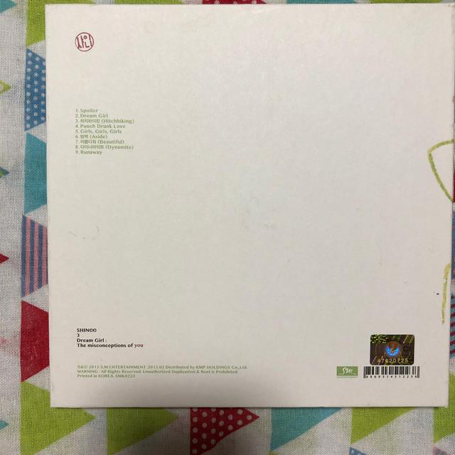 SHINee(シャイニー)のSHINee Dream Girl キートレカ付き エンタメ/ホビーのCD(K-POP/アジア)の商品写真