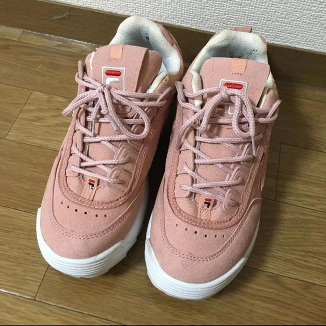 FILA(フィラ)の限定値下げ FILA ピンク スニーカー レディースの靴/シューズ(スニーカー)の商品写真