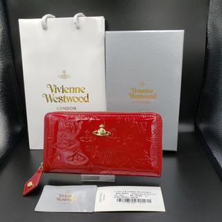ヴィヴィアンウエストウッド(Vivienne Westwood)の大人気‼︎ ヴィヴィアンウエストウッド 長財布 エナメルレッド ラウンドファスナ(財布)