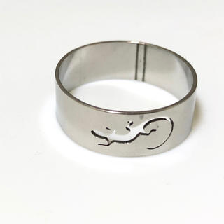 同時購入で300円 ステンレス指輪トカゲ(リング(指輪))