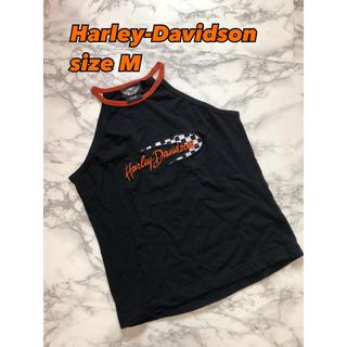 ハーレーダビッドソン(Harley Davidson)の④④①Harley-Davidson チェッカーフラック×ロゴ キャミsizeM(キャミソール)