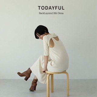 トゥデイフル(TODAYFUL)のTODAYFUL 新品バックレイヤードリブドレス(ロングワンピース/マキシワンピース)