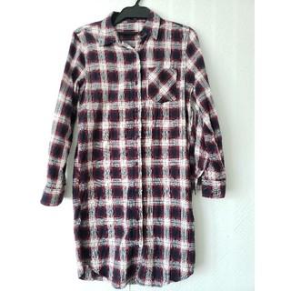 イング(INGNI)のイング チェックシャツ ワンピース Mサイズ(シャツ/ブラウス(長袖/七分))
