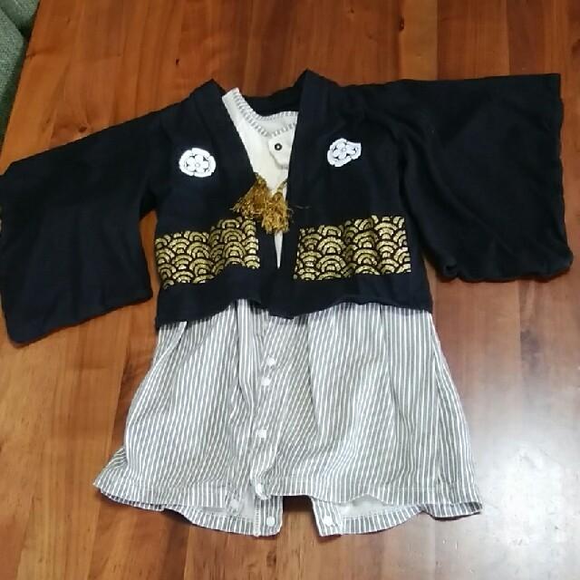 ベルメゾン(ベルメゾン)のベビー袴、羽織セット キッズ/ベビー/マタニティのベビー服(~85cm)(和服/着物)の商品写真