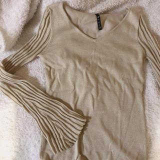 エディットフォールル(EDIT.FOR LULU)のvintage gold knit tops(カットソー(長袖/七分))
