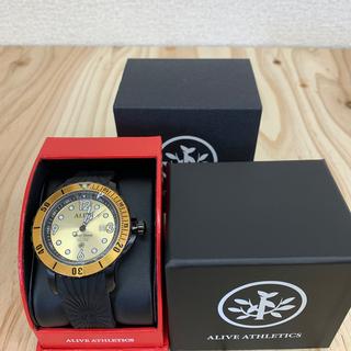 アライブアスレティックス(Alive Athletics)の◆新品未使用◆ALIVE腕時計 DIVER DOWN black/gold(腕時計(アナログ))