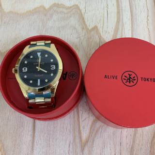 アライブアスレティックス(Alive Athletics)の◆新品未使用◆ALIVE腕時計 ANSWER gold/black(腕時計(アナログ))