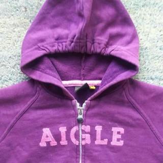 エーグル(AIGLE)のエイグル パーカー 紫色(ジャケット/上着)