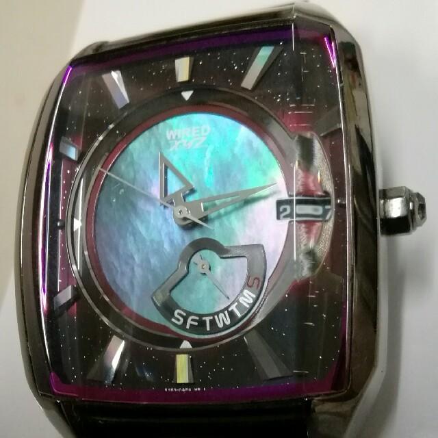 WIRED - セイコー ワイアード腕時計 XYZ  ブルーシェル 10気圧防水 電池新品の通販 by レスキュー's shop  (必ずプロフ見て下さい)|ワイアードならラクマ