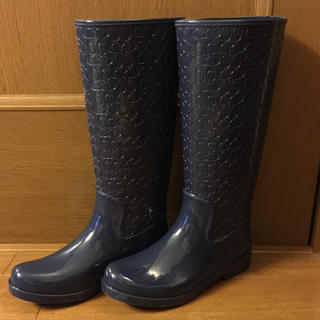 コーチ(COACH)のるるさま専用品 コーチ レインブーツ 新品未使用(レインブーツ/長靴)