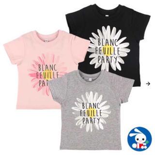 ニシマツヤ(西松屋)の秋まで着れる!花英字プリント半袖Tシャツ 90(Tシャツ/カットソー)