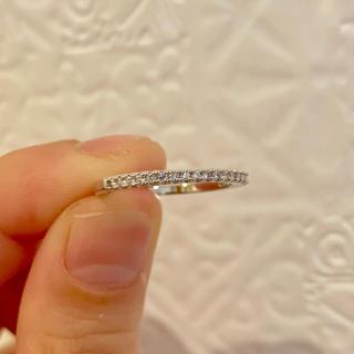 モアサナイトリング 8号 9号 指輪 ハーフエタニティ ダイヤモンドと同等石です(リング(指輪))