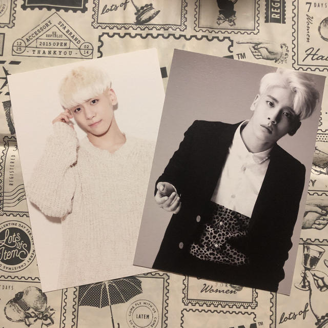 SHINee(シャイニー)のSHINee ジョンヒョン SMTOWN WEEK ポストカード エンタメ/ホビーのCD(K-POP/アジア)の商品写真