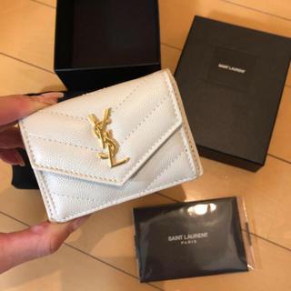 Saint Laurent - サンローラン 確実本物 新作 折財布 コンパクトウォレット ミニ財布 スモール