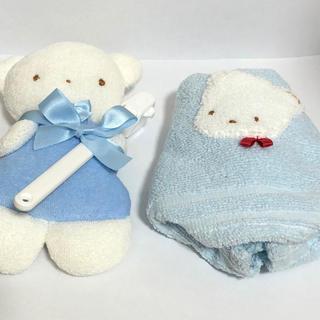 ファミリア(familiar)の【新品】familiar ファミちゃん ぬいぐるみ 歯ブラシ タオル セット(タオル/バス用品)