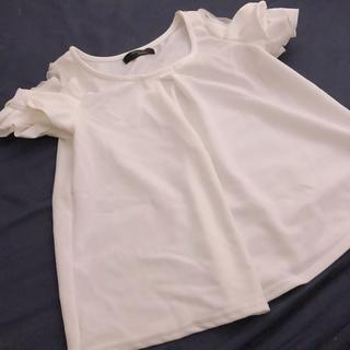 シマムラ(しまむら)の袖リボンカットソー(カットソー(半袖/袖なし))
