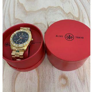 アライブアスレティックス(Alive Athletics)の◆新品未使用◆ALIVE腕時計 ILLEST gold/black(腕時計(アナログ))