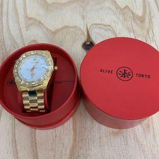 アライブアスレティックス(Alive Athletics)の◆新品未使用◆ALIVE腕時計 ILLEST gold/white(腕時計(アナログ))