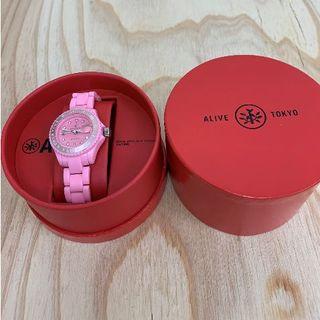 ◆新品未使用◆ALIVE腕時計 KID ILLEST pink