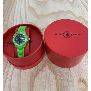 アライブアスレティックス(Alive Athletics)の◆新品未使用◆ALIVE腕時計 KID ILLEST lime(腕時計)