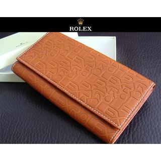 ロレックス(ROLEX)のROLEX ロレックス ウォレット 長財布 二つ折り財布 札入れ 金入れ(長財布)
