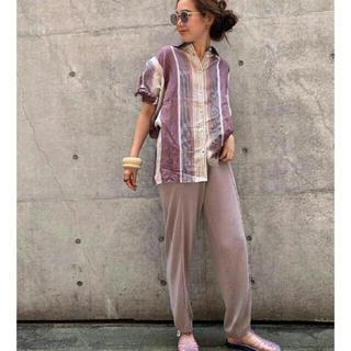 トゥデイフル(TODAYFUL)のtodayful centerpress knit pants 36(その他)