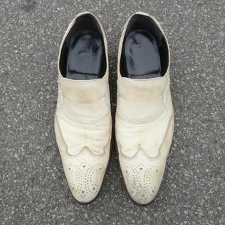アルフレッドバニスター(alfredoBANNISTER)のalfredバニスターIN 白革靴(ドレス/ビジネス)