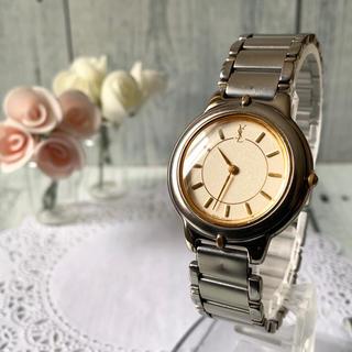 サンローラン(Saint Laurent)の【電池交換済み】Yves Saint Laurent 腕時計 メンズ ラウンド(腕時計(アナログ))