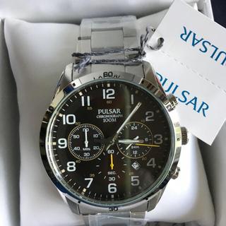 セイコー(SEIKO)のセイコー 逆輸入PULSARブラウンメタリック100m防水クロノグラフ腕時計(腕時計(アナログ))