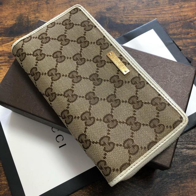 Gucci - ☘美品☘ GUCCI オールドグッチ ラウンドファスナー クリーニング済の通販 by mint|グッチならラクマ