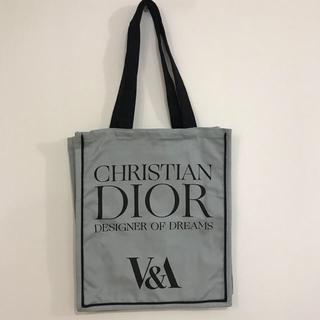 クリスチャンディオール(Christian Dior)のクリスチャンディオール  トートバッグ  グレー  ロンドン V&A博物館限定(トートバッグ)