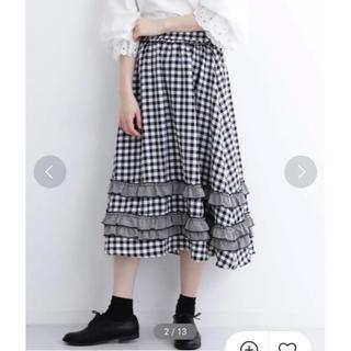 メルロー(merlot)のメルロー チェック柄スカート(ひざ丈スカート)