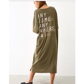 ロデオクラウンズワイドボウル(RODEO CROWNS WIDE BOWL)のロデオクラウン ANY Tシャツ ワンピース (ひざ丈ワンピース)
