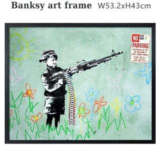 バンクシー アートフレーム (ノーパーキング) Banksy ポスター 有名作品(絵画/タペストリー)