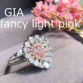 GIA付ファンシーライトピンクダイヤモンドのゴージャスお花リング(リング(指輪))